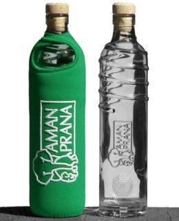 drinkfles groen, glazenfles met groene hoes